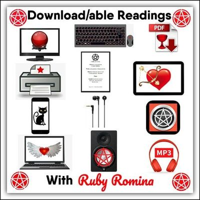 DOWNLOADABLE READINGS ~ U can now purchase on demand, contactless psychic oracle readings from moi, Ruby Romina, no need to wait for an answer, simply pay and go AKA purchase an awesome download and get a very quick but meaningful and truthful answer w......