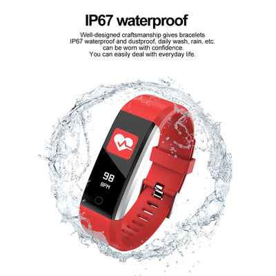 115 Plus IPS Touch Screen Wristband Heart Rate Blood Pressure Oxygen Monitor Fitness Tracker Real-time Call Reminder IP67 Waterproof Smart Watch