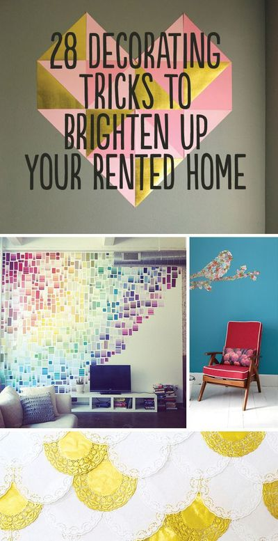 So, you want to fix up that gross apartment or dorm you're subletting this summer, but don't want to lose your deposit? Here are some easy ways to brighten up y