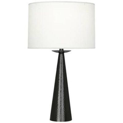 """Reinforce the traditional style of your elegant decor with the addition of this Dal metal table lamp. 30 1/2"""" high. Shade is 16 1/2"""" across the top x 17"""" across the bottom x 11"""" on the slant. Base is 5 3/4"""" wide. Takes one maximum..."""