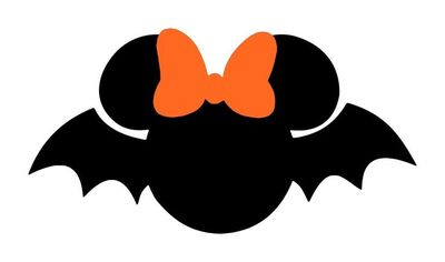 Personalized Bat Minnie or Mickey DIY Iron on Decal. $7.00, via Etsy.
