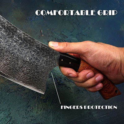 Chinese cleaver Hand Forged Damascus Kitchen Knife Vegetables Gadget Home Tools Custom Chef Knife $196.90