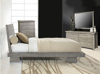 hiro platform bedroom set in driftwood