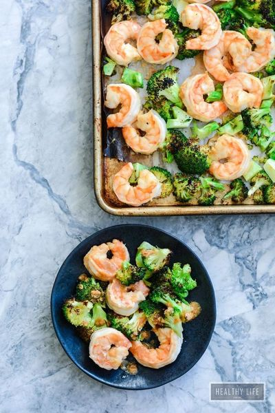 Broiled Shrimp and Broccoli with Cashew Sauce