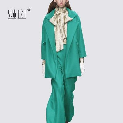 Office Wear Oversized Attractive Casual Outfit Twinset Wide Leg Pant Suit - Bonny YZOZO Boutique Store