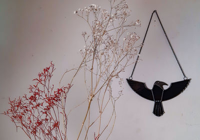 Stained glass bird raven suncatcher, Modern stained glass pendant or wall decor for you home, bird suncatcher $67.00