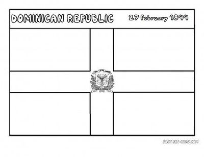 image regarding Flag Day Printable Activities called Totally free Printable flag of dominicanrepublic coloring webpage for k