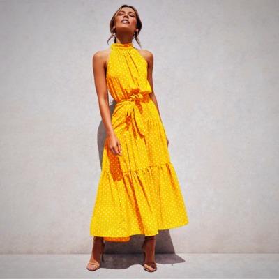 Elegant Summer Polka Dot Dress $36.99