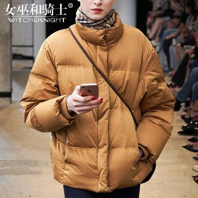 Vogue High Neck Duck Down Winter 9/10 Sleeves Feather jacket Coat - Bonny YZOZO Boutique Store