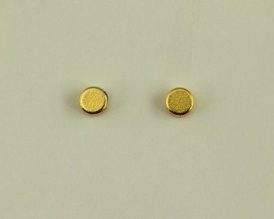 3 mm Silver or Gold Disk Magnetic Non-Pierced Earrings $20.00 Designed by LauraWilson.com