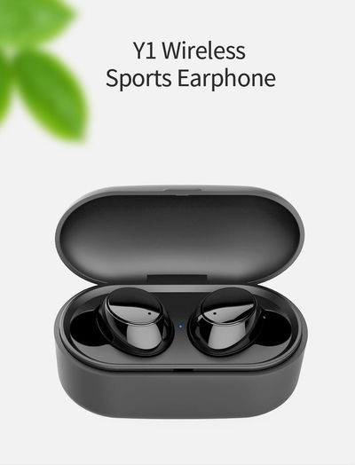Bakeey Y1 TWS True Wireless bluetooth Earphone Mini Portable Stereo Bilateral Call Headphone with Charging Box