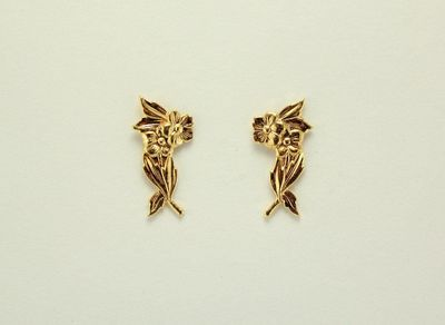 Gold or Silver Small Flower Bouquet Magnetic Earrings $30.00 Designed by LauraWilson.com