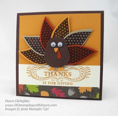 Wonderfall Autumn Accents Turkey by dostamping - Cards and Paper Crafts at Splitcoaststampers