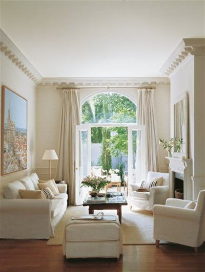 Living room- white sofas