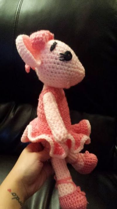 Free Angelina Ballerina Inspired Doll Crochet Pattern ...