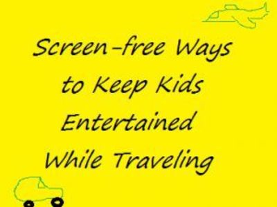 Looking for some screen-free ways to keep the kids busy while traveling? Here are over 10 ideas to get you started!