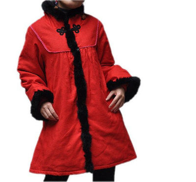 Winter Cotton Loose fitting padded coat Women red coat