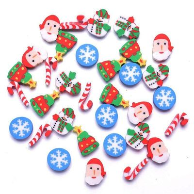 Assorted Colours Christmas Erasers. Pack of 30 Mini Xmas Santa Novelty Rubbers. £6.99