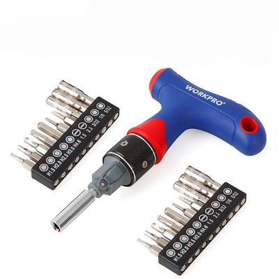 WORKPRO 21 in 1 Precision Screwdriver Set Dual Drive T Type Handle Express Ratcheting Driver Set