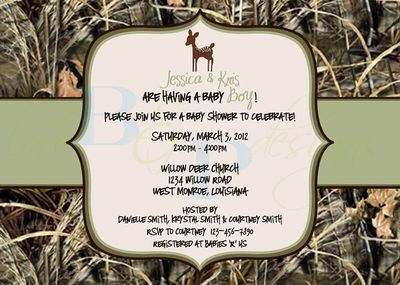 HUNTING BABY SHOWER INVITATIONS | Maxx 4 Camo With Deer Baby Shower  Invitation By Lovebandpdesigns