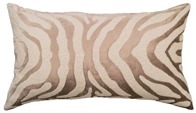 Zebra Fawn and White Large Rectangle Pillow by Lili Alessandra $425.00