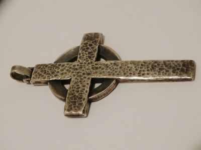 """James Avery *XXL* 3 1/8"""" x 1 3/4"""" 42 Grams Sterling Silver Hand Hammered Cross Pendant. $604.25"""