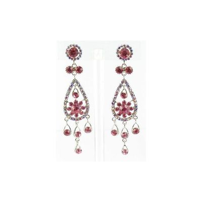 Helens Heart Earrings JE-X005173-S-Pink Helen's Heart Earrings - Rich Your Wedding Day