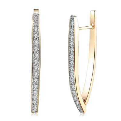SINGLE ROW DIAMOND STUDDED ROMANTIC STYLE EARRING CLIP