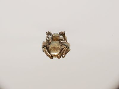 Sterling Silver Articulated Frog Ring. Size 4 1/2 $34.00