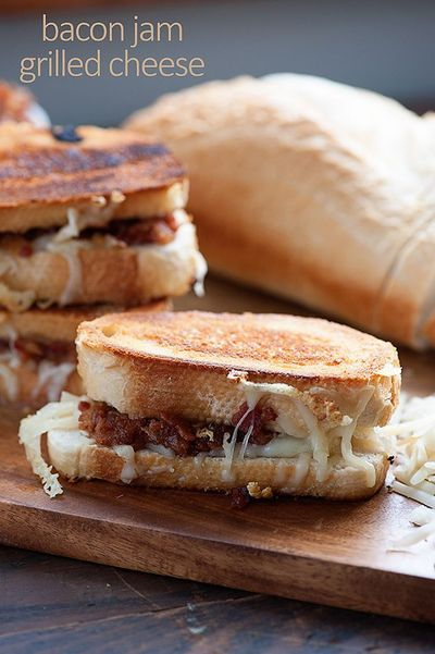 Homemade Bacon Jam on a grilled cheese sandwich! / recipes, entrees ...