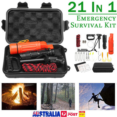 SOS Emergency Survival Equipment Outdoor Gear Tools Kit Tactical Camping Hiking