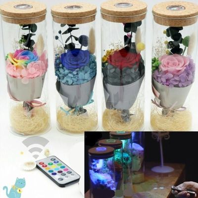 1Pcs LED Remote Control Discolored Lights Forever Rose Colorful Valentine's Day Present For Women Girl New Year Gifts $42.00