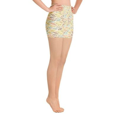 """Exclusively from And Above All YOGA --- """"Palm Fronds"""" Deluxe Made to Order Yoga Shorts for just $39.00 with FREE SHIPPING"""