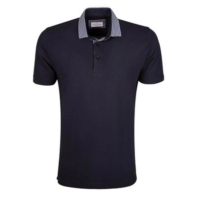 Create a stylish look with this Oxford Men Blue contrast collar polo shirt. Woven in Cotton Pique, this Polo Shirt has a fine finish. �€� 100% Cotton Pique �€� Collar �€� Machine Washable.