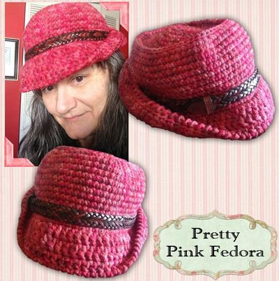 Free Fedora Hat Pattern Available From Grammys Heart W
