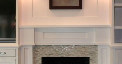 glass tile fireplace design pictures remodel decor and ideas square tiles date a