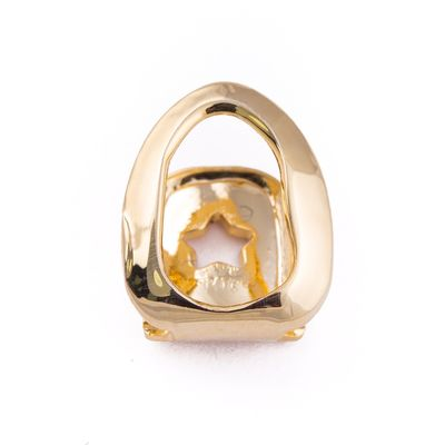 Premium Men's New Gold Plated Open Face Single Tooth Cap Glossy Polish Hip Hop Bling Grillz £14.95
