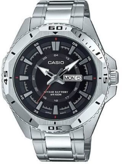 CASIO 10 YEARS BATTERY STAINLESS STEEL 46MM MENS MTD-1085D-1A $131.63