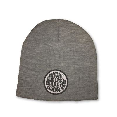 THIGHBRUSH® BEARD RIDING COMPANY Beanies - Patch on Front - Grey