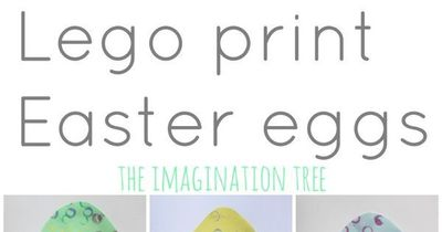 Decorate Simple Easter Egg Cards Using Lego Duplo To Make A