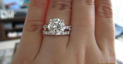 Pave Round Cut with Pave Wedding Band