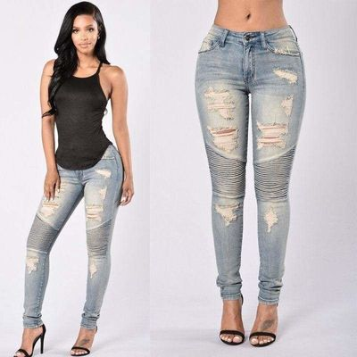 Stretch Ripped Sexy Skinny Jeans $36.99