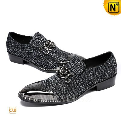 CWMALLS® Mens Embossed Leather Slip-on Loafers CW708103 [Patented Product, Global Free Shipping]