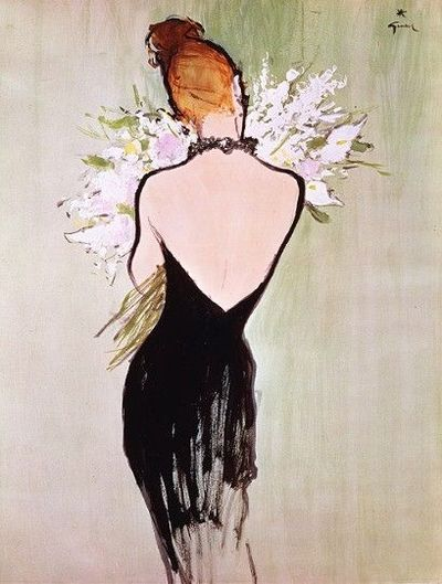 Rene Gruau Fashion Illustration Dior Advert
