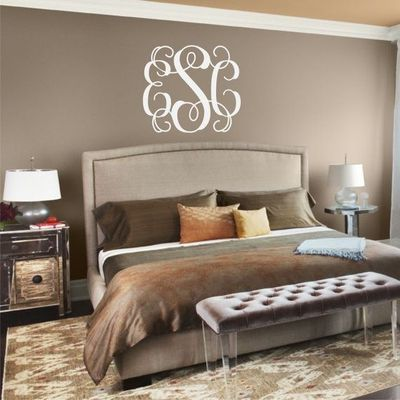 Need above bed wall monogram for the bedroom juxtapost for Want to decorate my bedroom