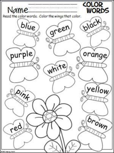 Free spring butterfly coloring page. Students color the butt ...