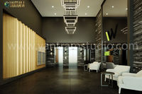 3d interior design rendering views of the lobby, kitchen, gym, bathroom, pool by Architectural Design Studio 2021, Los Angeles - California  Project: 3d interior design of Modern Lobby Client: 1007, CHARLES Location: Los Angeles '�'�&...