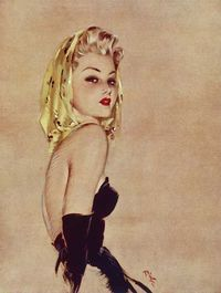 mudwerks: (via Exotic Painting: Golden Girl) Golden Girl by the British illustrator David Wright (1912-1967).