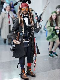 """""""All Jonny Depp Characters at once"""" Cosplay"""
