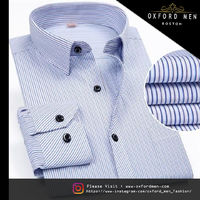 Create a stylish look with this Oxford Men blue designer shirt. Woven in Egyptian cotton & polyester. this shirt has a fine finish.  �€� 80%Cotton & 20%Polyester  �€� Classic collar  �€� French cuff  �€� Oxf...